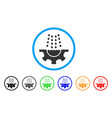 water shower service gear rounded icon vector image