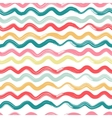 Wavy striped seamless pattern vector image
