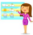 weather reporter vector image vector image