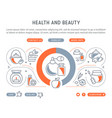 website banner and landing page health and vector image vector image