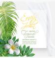 wedding event invitation card vector image vector image