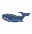 whale icon cartoon style vector image