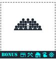 Team lead icon flat vector image