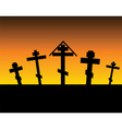 cemetery night vector image