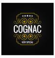 cognac whiskey logo design background vector image