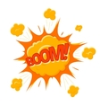 Boom Bubble Cartoon Flat Comic Style vector image
