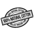 100 percent natural cotton rubber stamp vector image