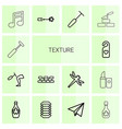 14 texture icons vector image vector image