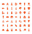 49 cap icons vector image vector image