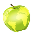 apple globe vector image