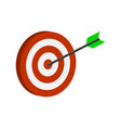 arrow hitting target symbol flat isometric icon vector image
