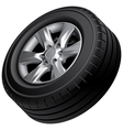 Automobile wheel isolated vector image vector image