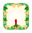 Banner square button Christmas Spruce vector image vector image
