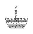 basket empty object vector image vector image