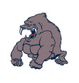 beast strong gorilla cartoon character vector image