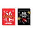 big christmas sale 70 on vector image vector image
