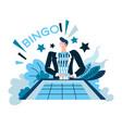 bingo and win casino and gambling winner at vector image