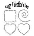 black elements for valentine day - set vector image