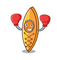 boxing canoe character cartoon style vector image