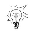 bulb in comic style vector image vector image