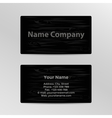 Business Card with Wood Texture vector image vector image