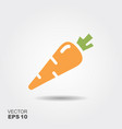 carrot flat icon colorful logo vector image
