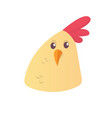 cartoon cute chicken icon vector image vector image