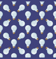 Cartoon lamps light bulb seamless pattern