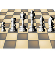 chess and chess board vector image vector image
