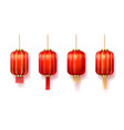 chinese red paper lanterns new year decoration vector image