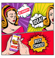 comic online shopping template vector image vector image