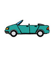 convertible car sport vehicle transport vector image vector image