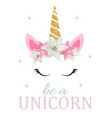 cute be a unicorn background vector image vector image