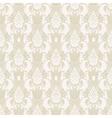 damask floral seamless pattern in beige vector image vector image