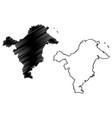 east kalimantan map vector image vector image