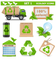 Ecology Icons Set 1 vector image vector image