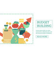 Flat budget building poster