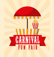 food booth retro poster carnival fun fair vector image vector image