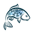 frozen fish design vector image vector image