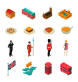 Great Britain Isometric Touristic Set vector image
