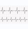 heartbeats cardiogram ecg heart line vector image