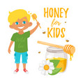 honey for kids vector image