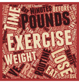 How To Stick To A Routine To Lose Pounds text vector image vector image