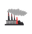 industrial plant with smoking pipe environmental vector image