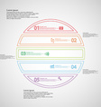 Infographic with circle divided to five color vector image vector image