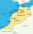 Kingdom of Morocco - map vector image