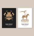 knight historical club flyer brochure banner vector image vector image