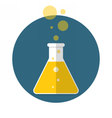 Laboratory flask vector image vector image