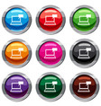 laptop with bubble speech set 9 collection vector image vector image