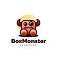 logo monster mascot cartoon style vector image